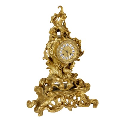 Mantel Clock Gilded Bronze Iron Made in France First Half of 1800