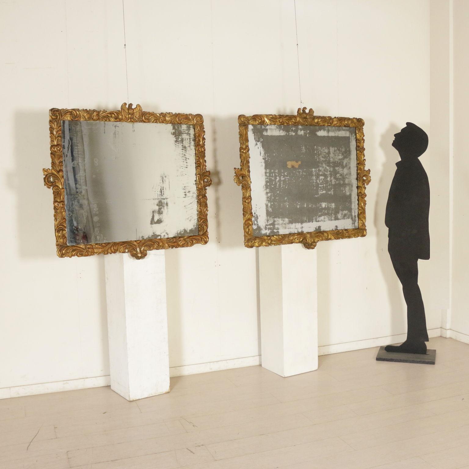Paar, die mit Goldenen Rahmen - Spiegel und Rahmen - Antiquitäten ...