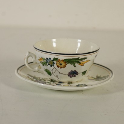 Cup and Plate by Gio Ponti Manufactured in Italy 1930s