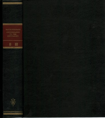 A concordance to The Septuagint and the other Greek version of the Old Testament (vol. II K- omega) and Supplement