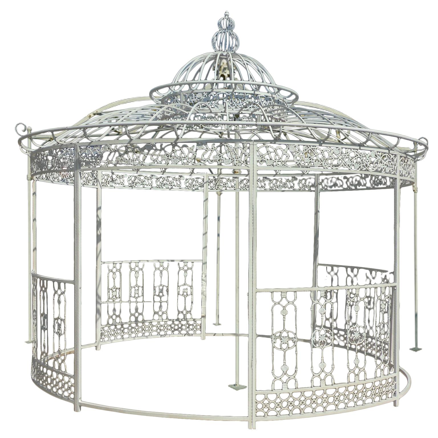 Pavillon Aus Eisen Steine Und Mobel Garten Antiquitaten