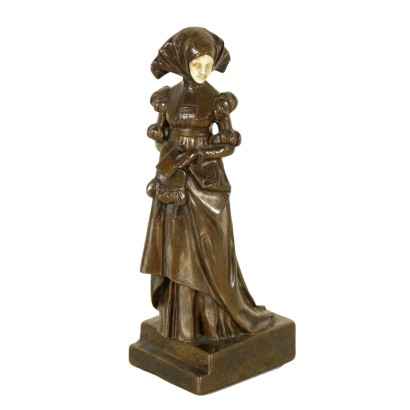 Dame by Emil Meier Bronze Sculpture Early 1900s