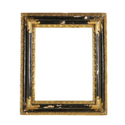 Baroque Frame Ebonized Wood Italy Second Half of 1600s