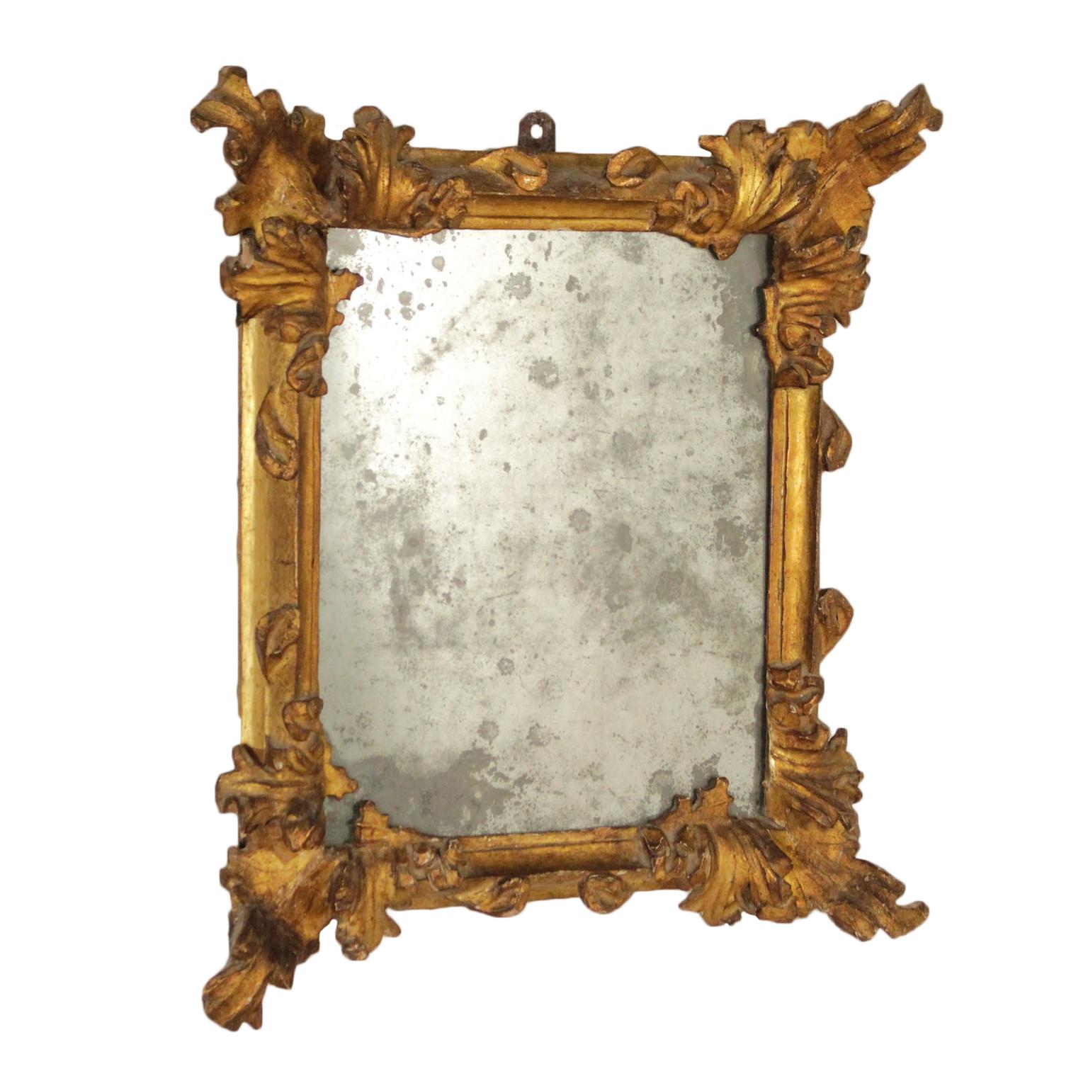 Encadrement Baroque elegant cadre baroque doré fabriqué en italie fin '600 - miroirs et
