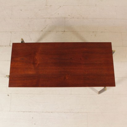 Coffee Table Paolo Tilche Style Teak Veneer Vintage Italy 1950s-1960s