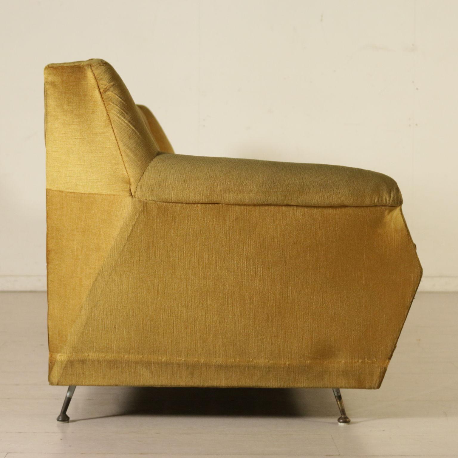 Sofa foam padding velvet upholstery vintage italy 1960s