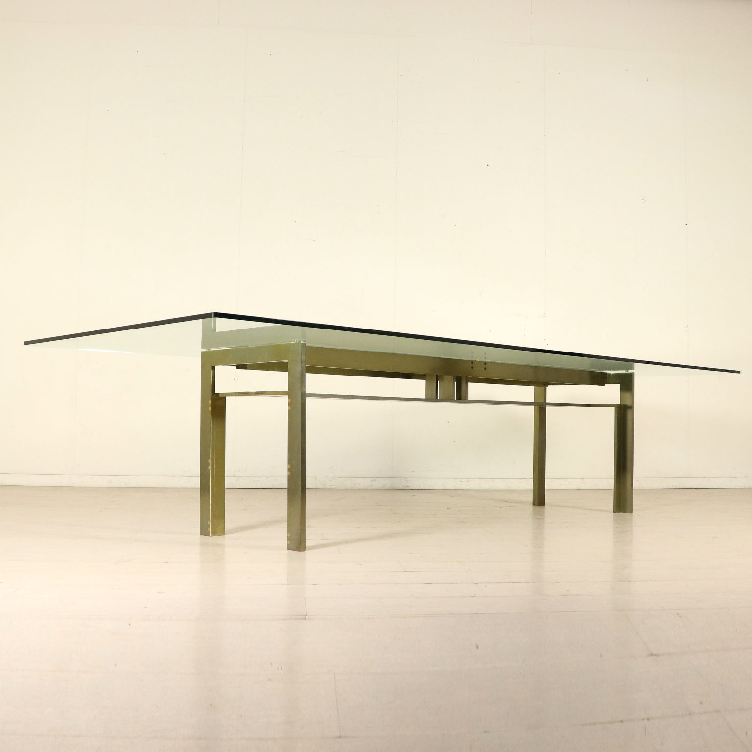 Table by Carlo Scarpa Steel Crystal Vintage Italy 1970s-1980s ...