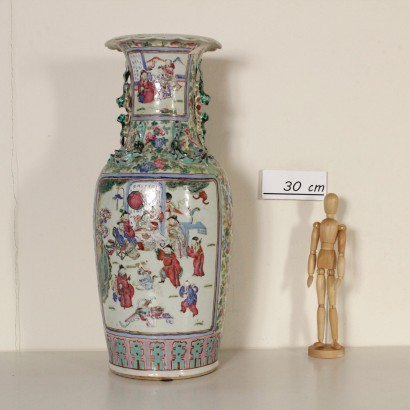 Grand vase chinois en porcelaine