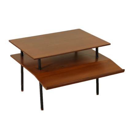 Coffee Table Mahogany Veneer Vintage Italy 1950s-1960s