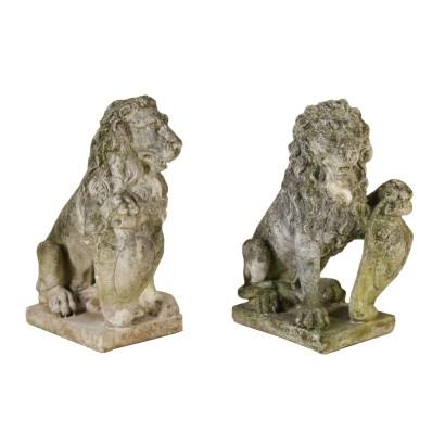 Letto antico letti e testate antiquariato - Un letto di leoni ...
