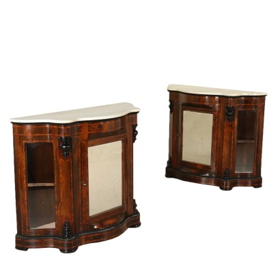 Pair of Showcases Louis Philippe Rosewood Mid 18th Century