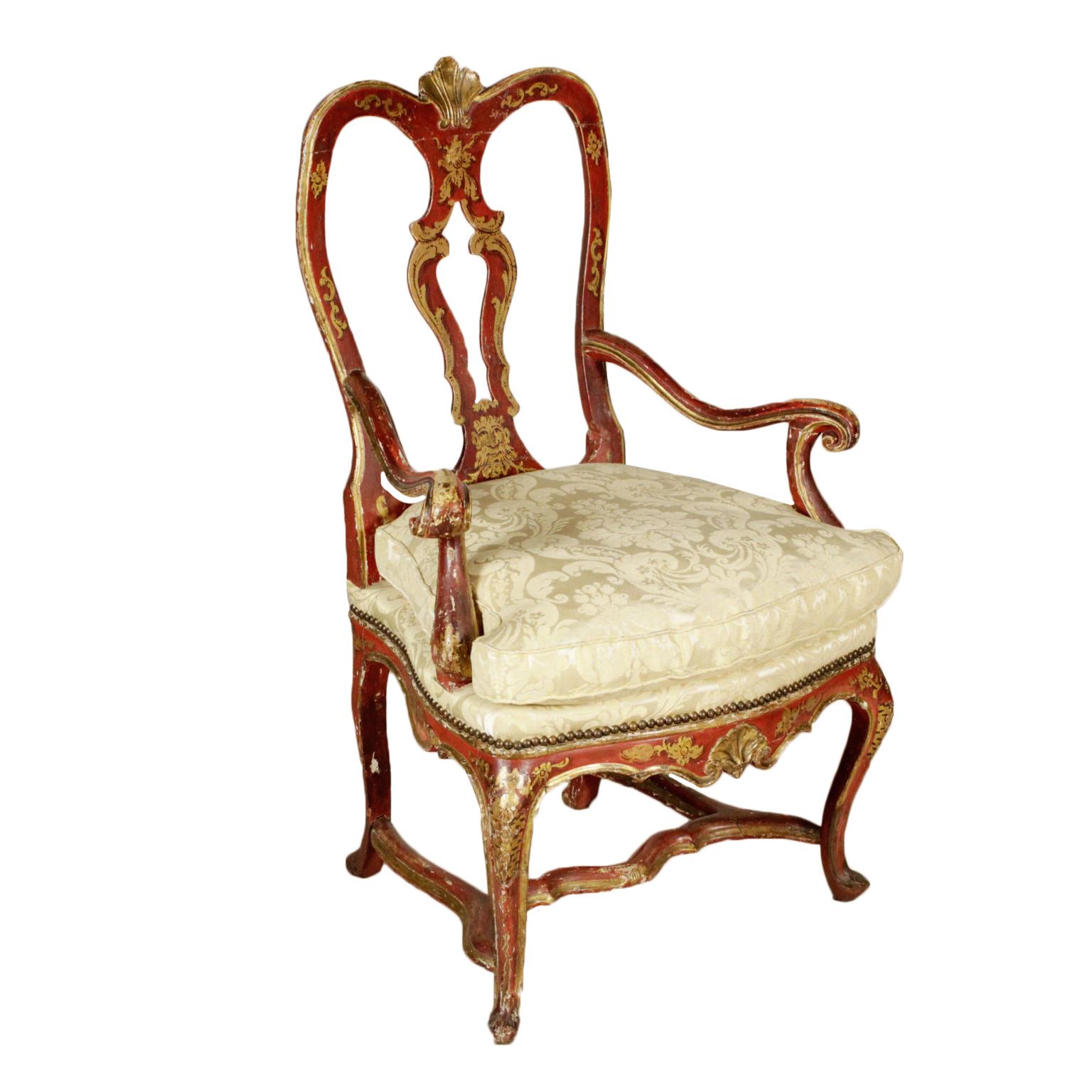 Poltrona laccata veneziana sedie poltrone divani for Poltrone sedie