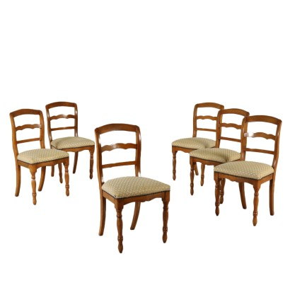 Set of Six Chairs Manufactured in Italy Mid 1800s