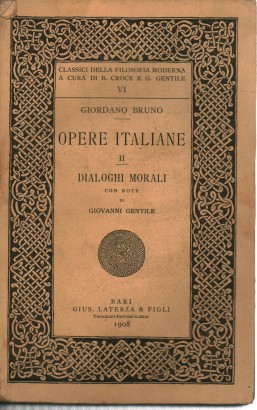 Italian works II. Dialogues moral