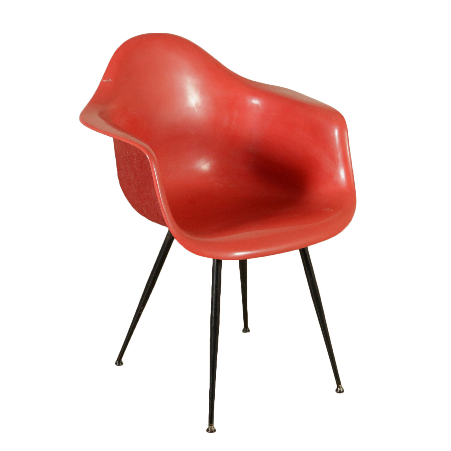 Chair Charles Eames Style Plastic Metal Vintage Italy 1960s - Chairs ...