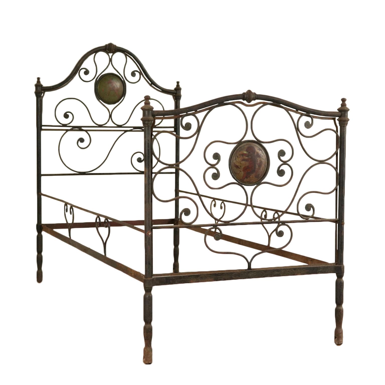 Einzelbett in Schmiedeeisen - Betten und Kopfteile - Antiquitäten ...