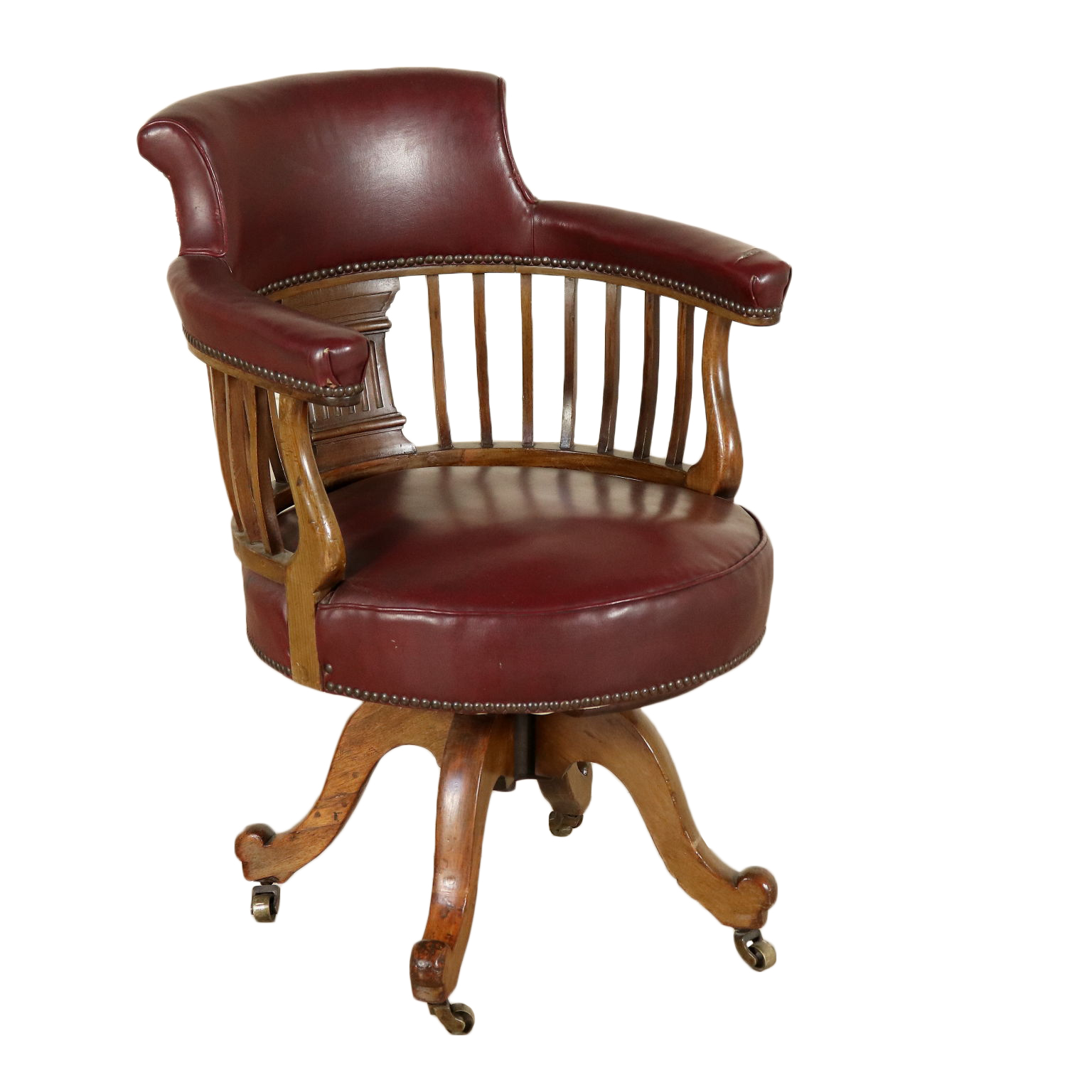 Sensational Swivel Armchair Mahogany Italy First Half Of 1900S Mobili Beatyapartments Chair Design Images Beatyapartmentscom
