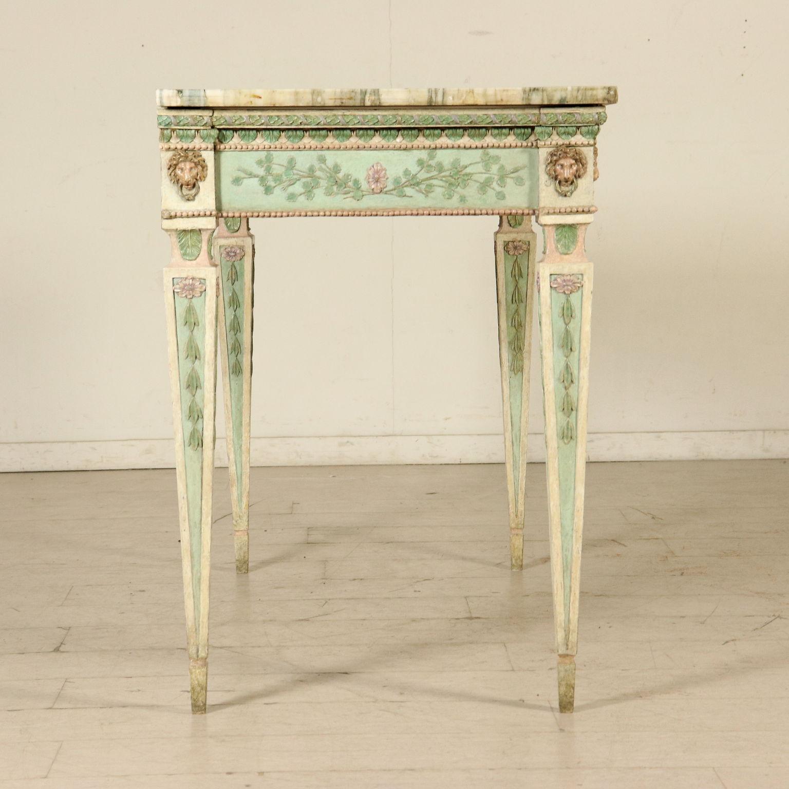 Consolle in legno laccato Luigi XVI - Consolle - Antiquariato ...