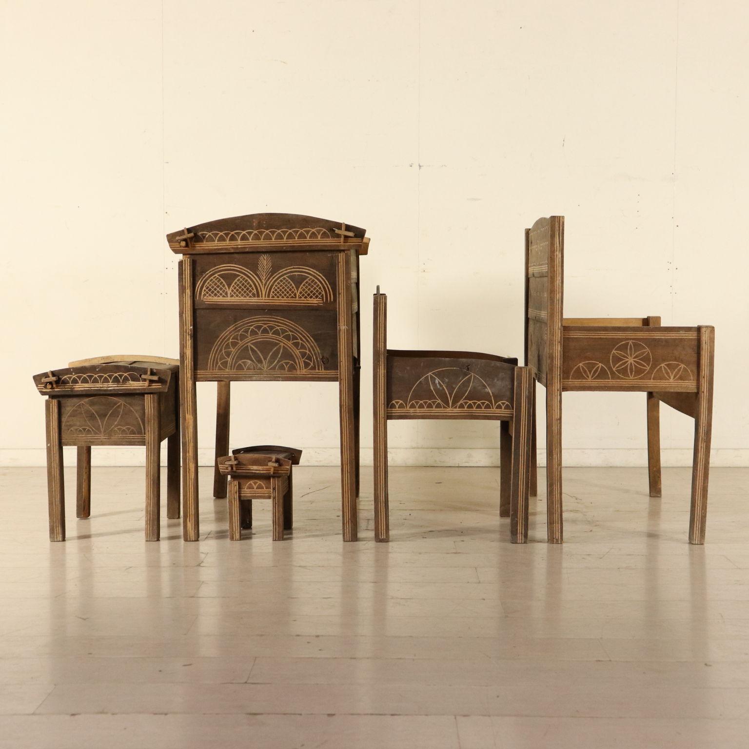 Salotto rustico mobili in stile bottega del 900 - Mobili stile rustico ...