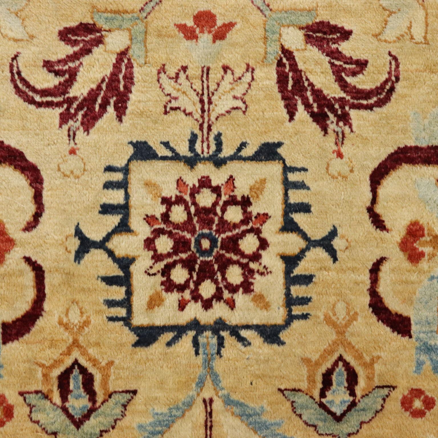 Tapis Ziegler Coton Laine Fabrication Manuelle Iran Annees 90