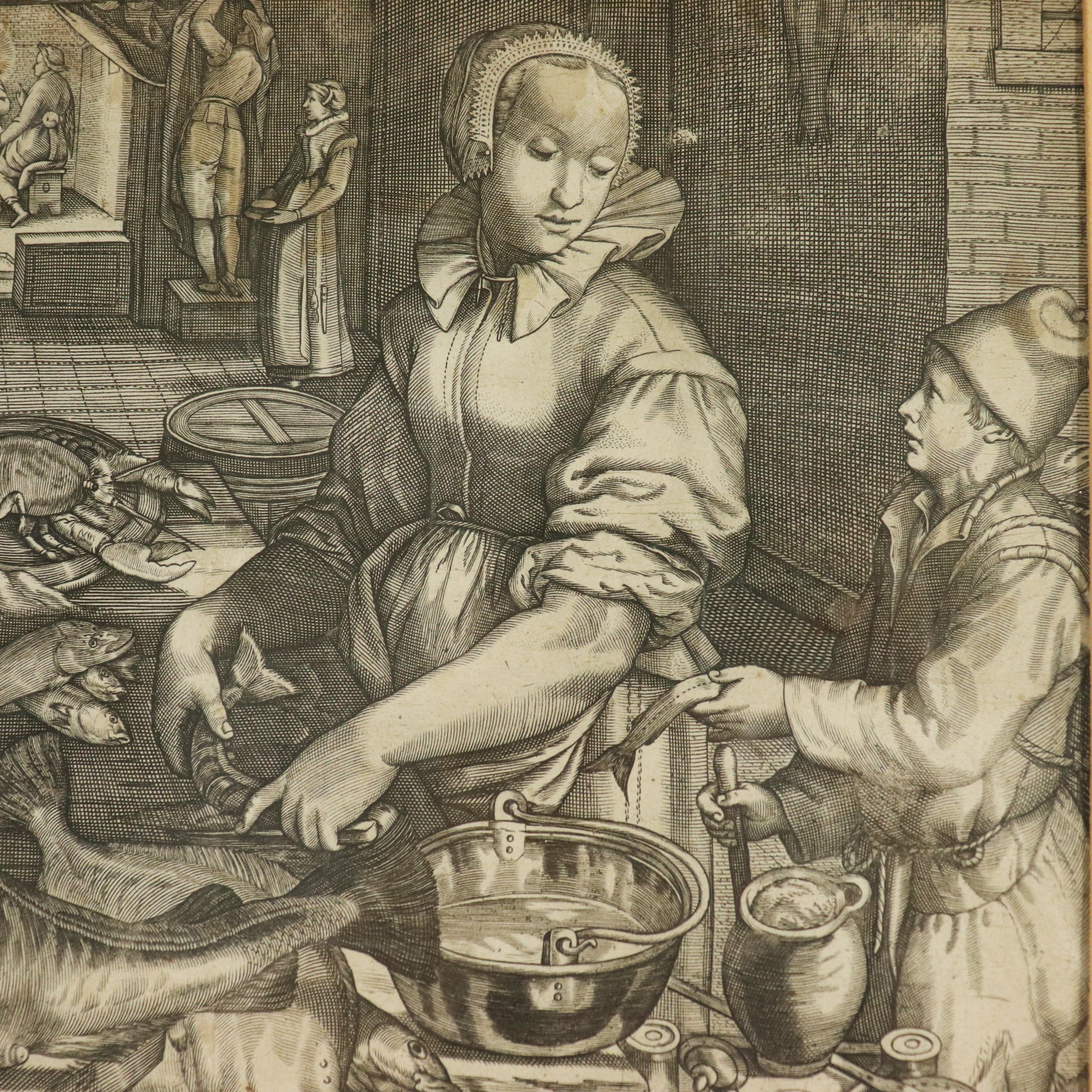 1933 Graphite Drawing Art The Supper At Emmaus
