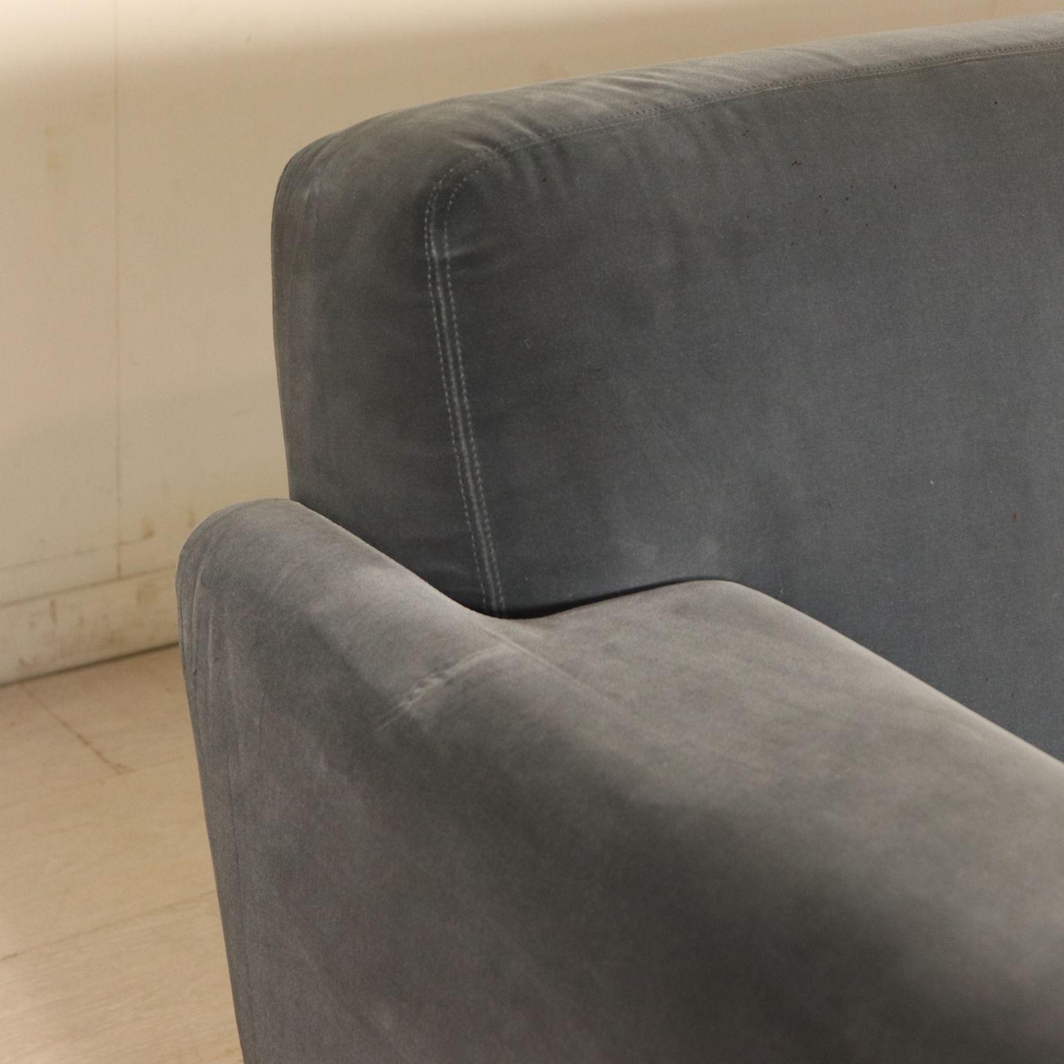 Divani Vintage Anni 60.Sofa Foam Padding Velvet Upholstery Chromed Metal Vintage Italy
