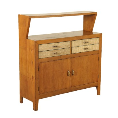 Oak Veneered Cabinet Vintage Manufactured in Italy 1950s