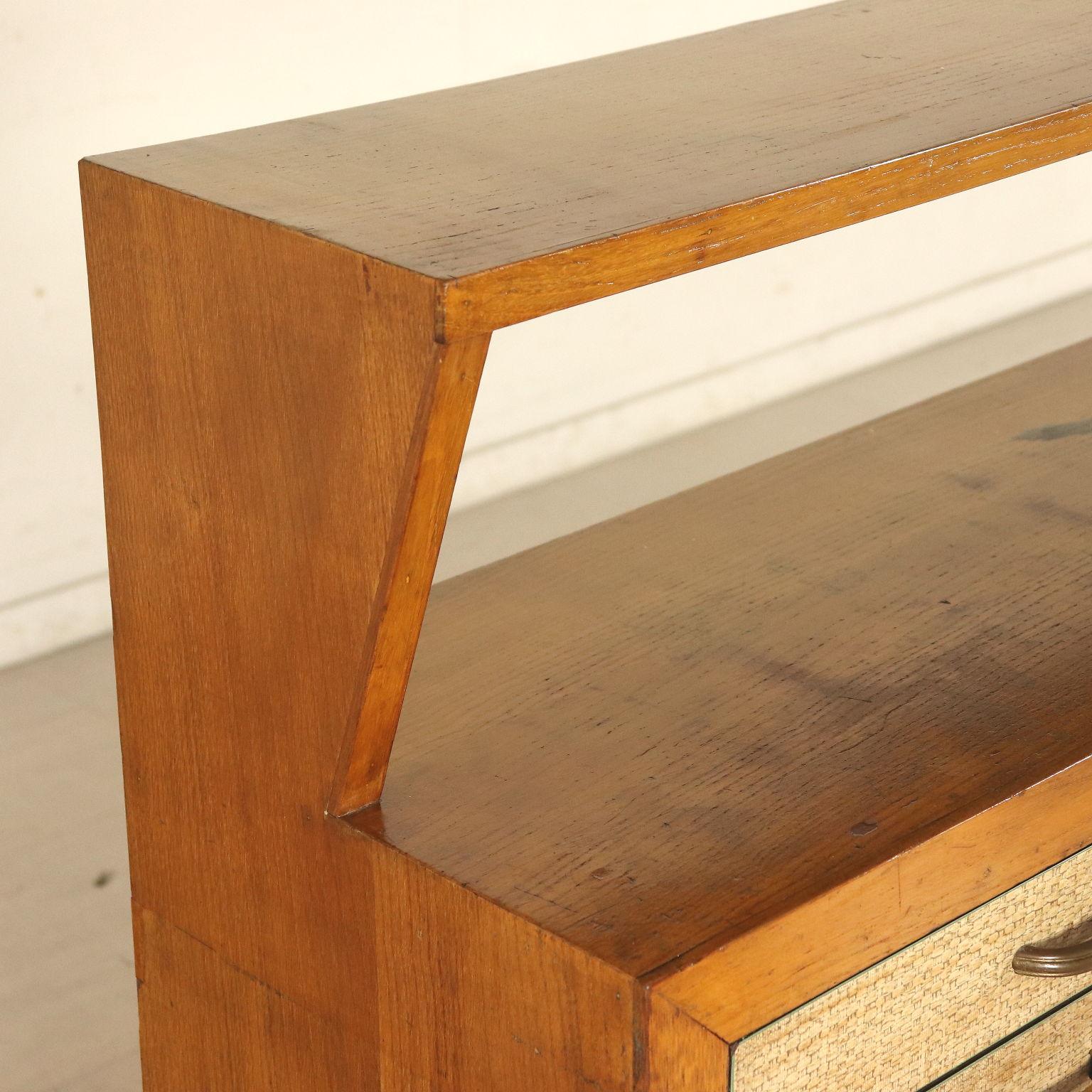 Eiche Furniert Schrank Italien 50er Jahre Möbel Modernes Design