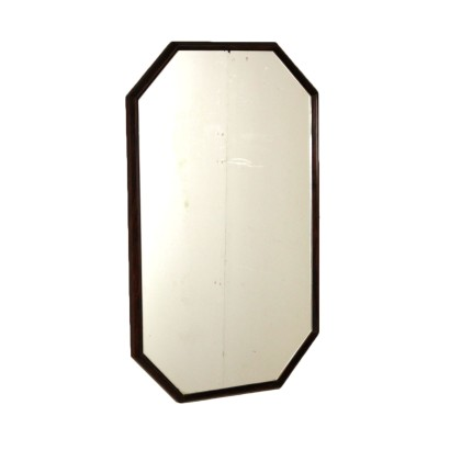 Wall Mirror with Wooden Frame Vintage Manufactured in Italy 1960s