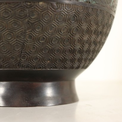 Bronze Decorated Vase Manufactured in Japan Late 1800s