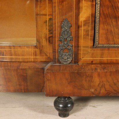 Inlaid Cabinet Maple Walnut Bronze England Late 1800s