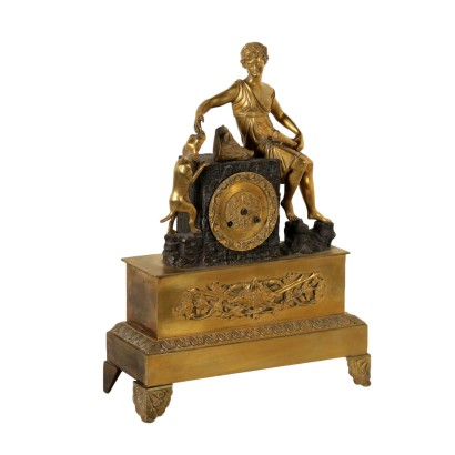 Horloge de Table Bronze doré Moitié '800