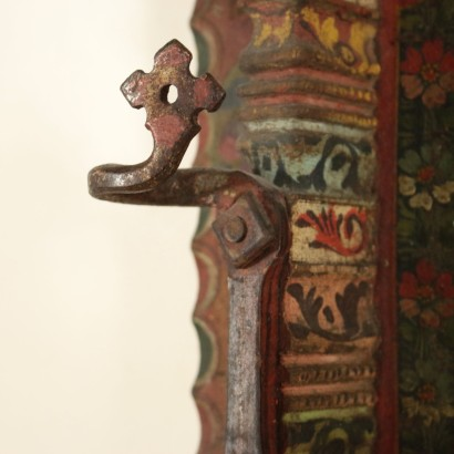 Side of Sicilian Cart Walnut Manufactured in Italy Mid 1800s