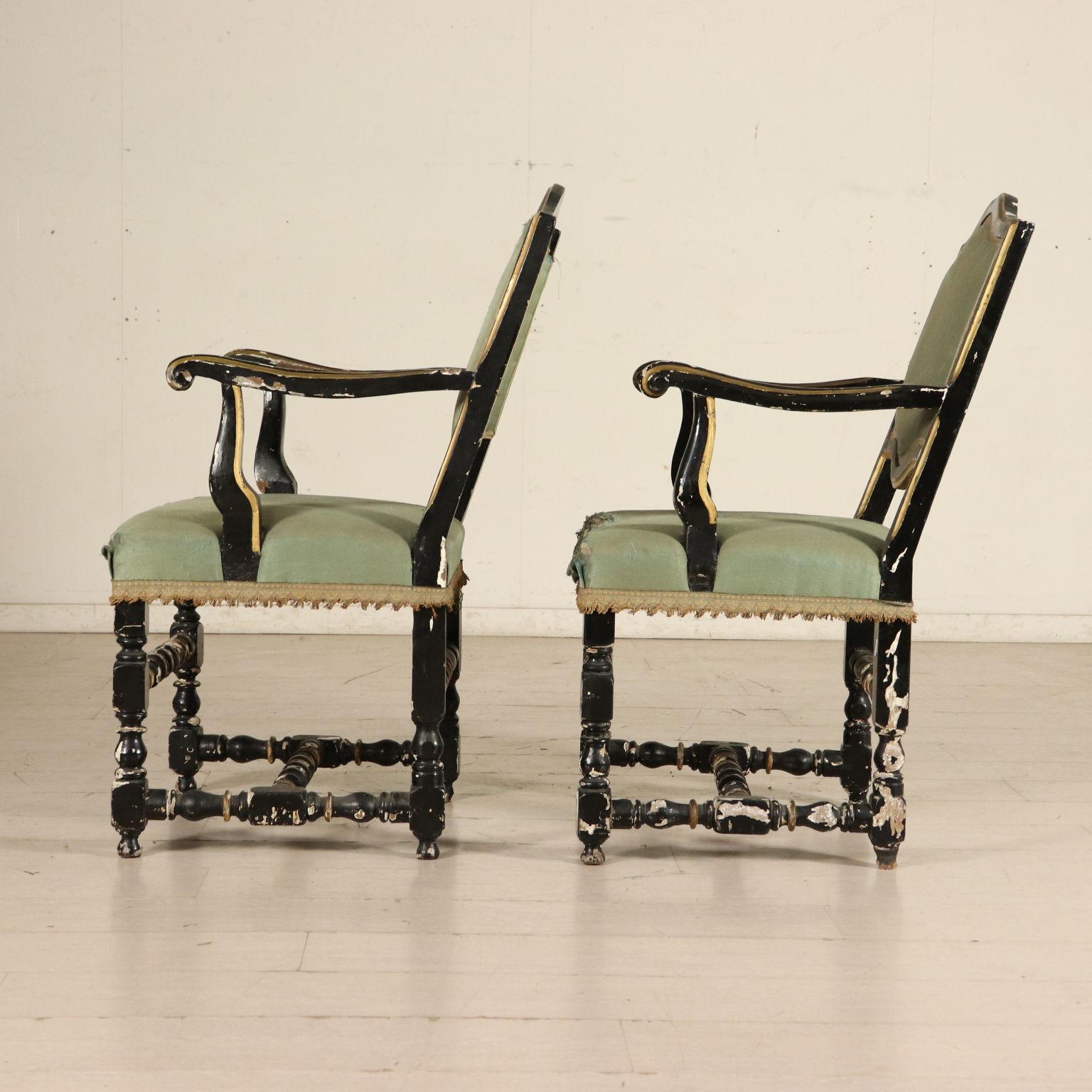 Coppia poltrone sedie poltrone divani antiquariato for Poltrone sedie