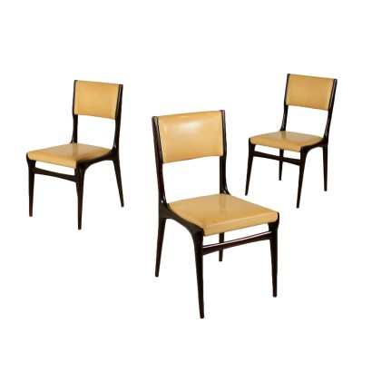Set of Chairs Designed by Carlo de Carli Skai Vintage Italy 1950s