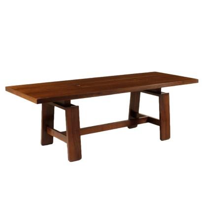 Tavolo apribile a bandelle mobili in stile bottega del 900 - Tavolo tondo apribile ...