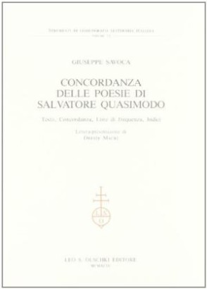 The concordance of the Poems of Salvatore Quasimodo