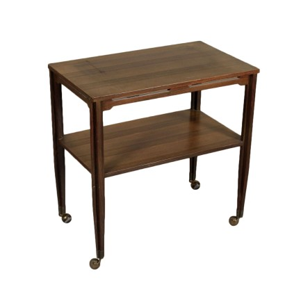 Service Cart Rosewood Veneer Vintage Manufactured in Italy 1960s