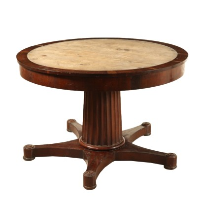 Empire Table Mahogany Manufactured in Italy Early 1800s