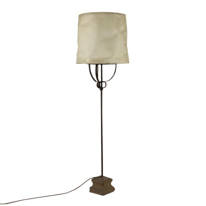 Floor Lamp Wrought Iron Stone Base Italy 18th Century