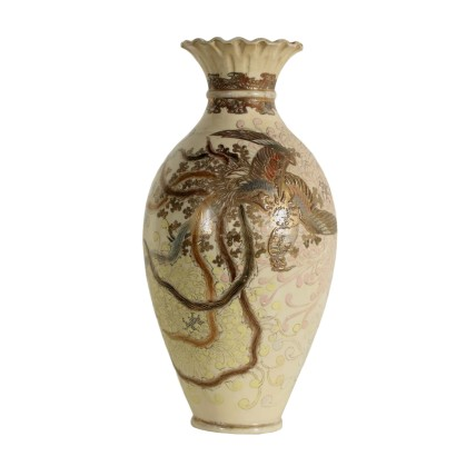 Satsuma Ceramic Vase Manufactured in Japan Late 1800s