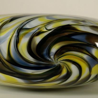 Vase Blown Glass Manufactured in Murano Italy Second Half of 1900s