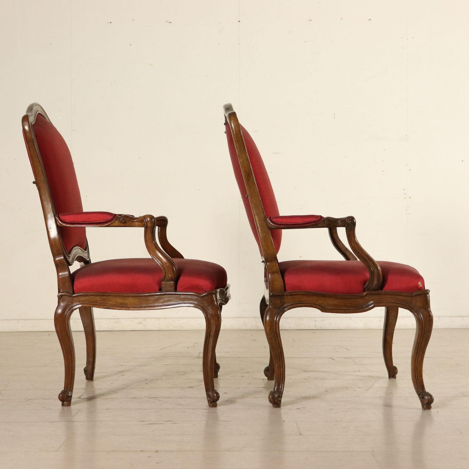 Coppia di poltrone barocchetto sedie poltrone divani for Poltrone sedie