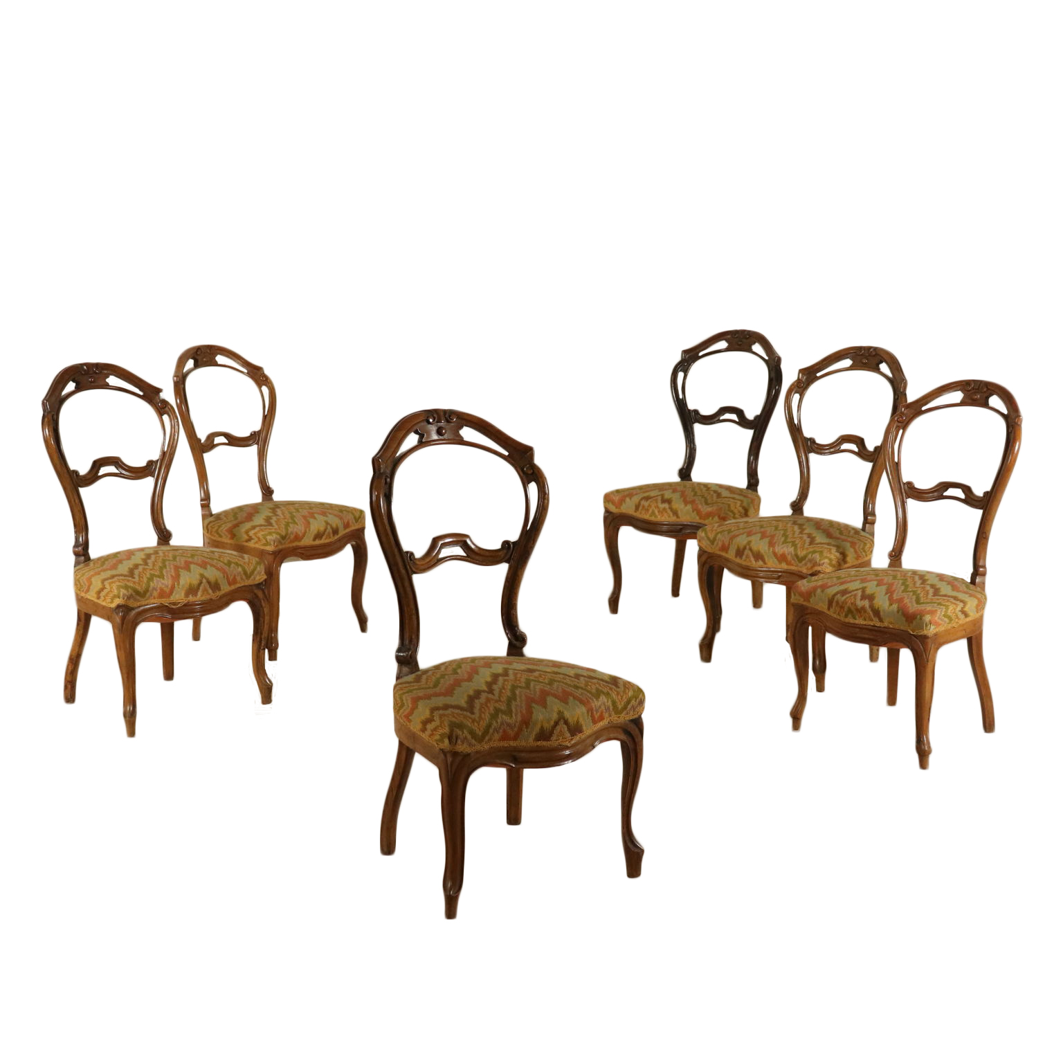 Gruppo di 6 sedie luigi filippo sedie poltrone divani for Poltrone sedie