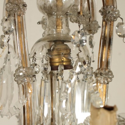 Maria Theresa Six Arm Glass Chandelier Italy Late 19th Century