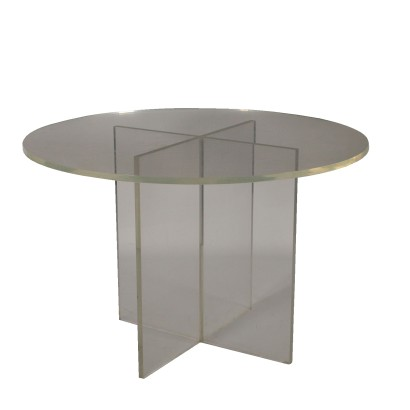 Plexiglass Table Vitnage Manufactured in Italy 1960s-1970s