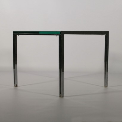 Coffee Table by Ross Littell for ICF Glass Steel Vintage Italy