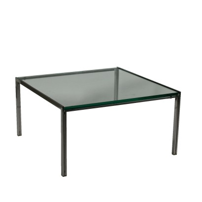 Coffee Table Manufactured in Ross Littell for ICF Steel Glass Italy