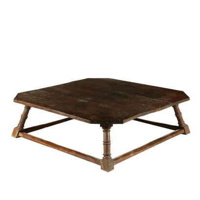 Large Living Room Walnut Table Italy Mid 20th Century