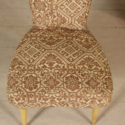 Pair of Armchairs Fabric Upholstery Vintage Italy 1950s